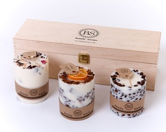 Handmade Soy Wax Candles Gift Set