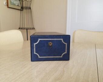 Vintage Dark Blue Photo Box