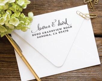 Return Address Stamp, Self Inking Stamp, Address Stamp, Custom Address Stamp, Wedding Stamp, Personalized Address Stamp