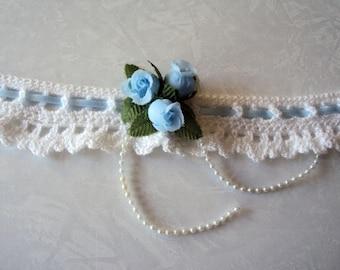 Wedding Garter - Garter - Crochet Garter - Bridal Garter - Crochet Wedding Garter