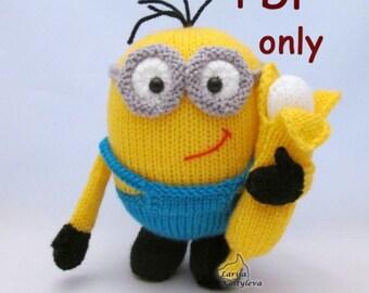 Yellow monster Bo, knitting pdf pattern