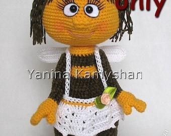 Miss Bee, amigurumi crochet pattern