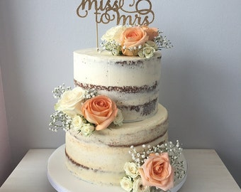 Miss to Mrs Bridal Shower Cake topper