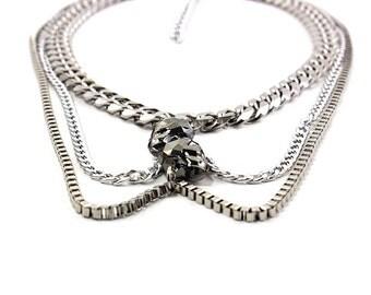 ZANNA Swarovski Skull Necklace