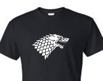Winter is Coming - House Stark - Dire Wolf - Game of Thrones Inspired Shirt