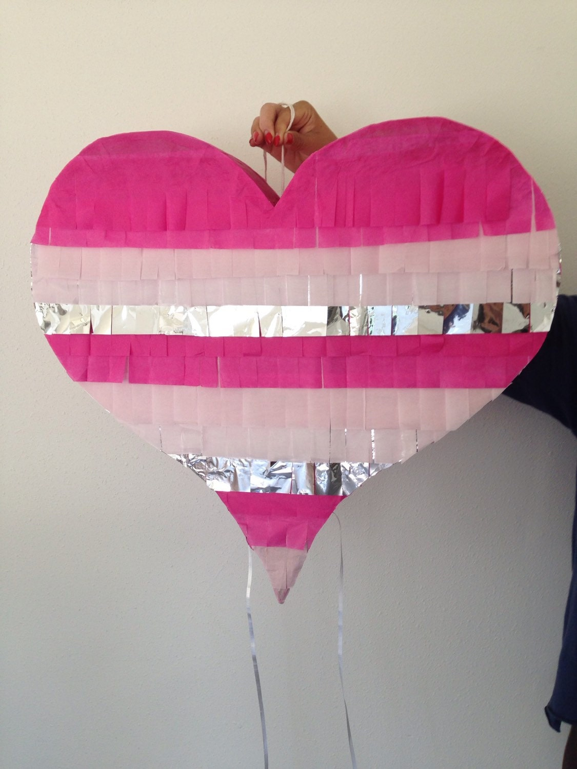 Gold, Silver, Or Multi Colored Heart Piñata | Heart Shaped Piñata |  Metallic Gold Or Silver Wedding Piñata | Baby Shower Piñata