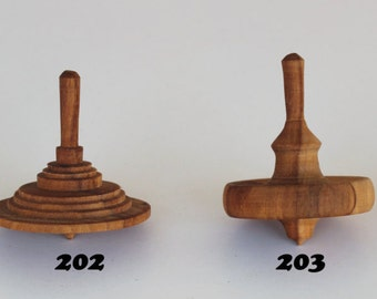 Hand Made Wooden Spinning top Toy