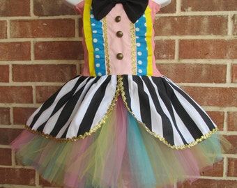 Boutique handmade pageant girls , baby, toddler Carnival Tutu Birthday Circus Clown, Clown Costume, Circus Costume, Clown Tutu, Ringmaster