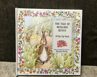 The Tale of Benjamin Bunny, Pop Up Book, Beatrix Potter, Bunny Pop Up Book, Benjamin Bunny, Peter Rabbit, Benjamin Bunny Book
