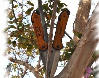 7 Engraved Pocket Knife , Monogram Engraving ,Groomsman Gift ,Camping Knife - Hunting Knife