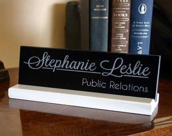 Desk Name Sign Personalized Customized Office Desk Name Plate Unique Professional Business Desk Sign Realtor Teacher Judge Lawyer