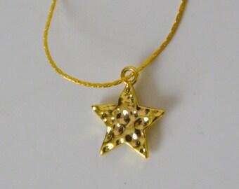 Gold plated, Bracelet Pendant Star (FDPC)