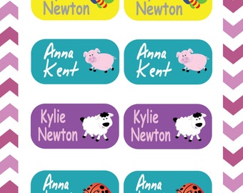 Daycare Labels - Kids labels - Personalized name labels - 105 labels - Waterproof kids name labels, School label, bottle launch box labels