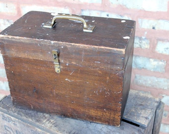 wooden tool box etsy. vintage primitive wooden tool box hinged lid carrier storage brass latch industrial chippy wood barn find etsy