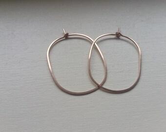 Small Gold Hoop Earings, Small Hoop Earrings, Rose Gold Hoop Earrings, Oval Hoop Earrings, Rose Gold Hoops, Hoop Earings, Small Hoops