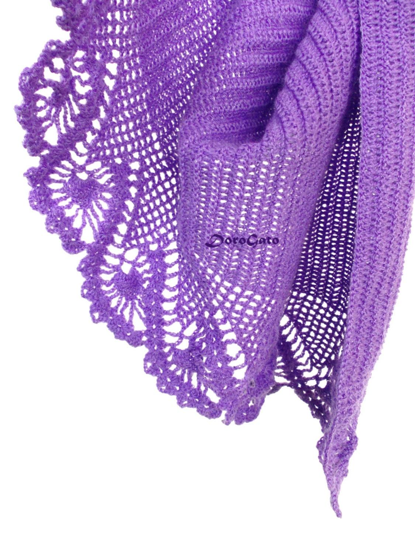Lace Triangle Shawl Crochet Pattern : Triangle shawl PATTERN lace stole pattern crochet by ...