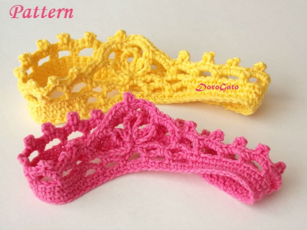 Crochet Headband Crochet baby crown pattern beginner