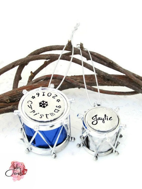 Personalized Mini Drum Christmas Ornament Little Drummer Boy