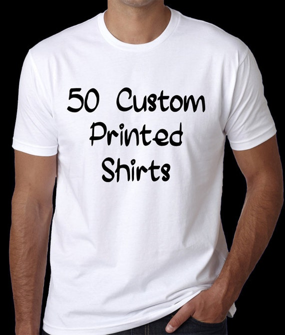 items similar to 50 custom printed t shirts personalized