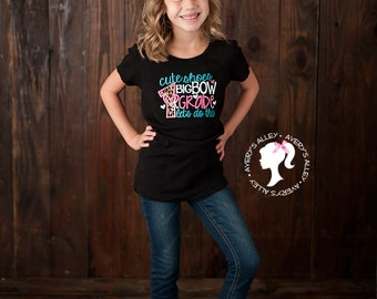 ANY GRADE!  - Cute Shoes Big Bow 1st Grade Let's do this - Girls Black Leopard Applique Shirt & Matching Hair Bow Set for Back to School