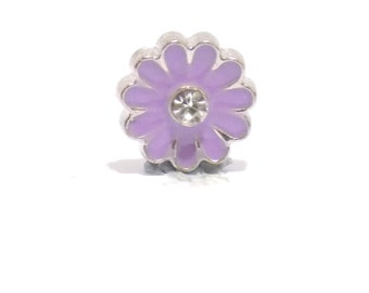 Purple flower charm, flower charm, living memory charms, charms, purple flower