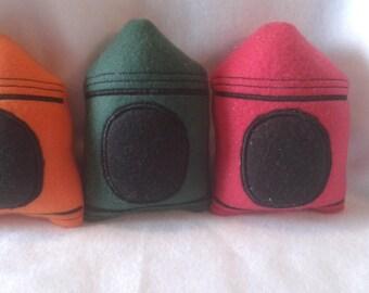 Stuffed Crayon, Crayon Plushie, Crayon Stuffie, Crayon Toy, Crayon Doll