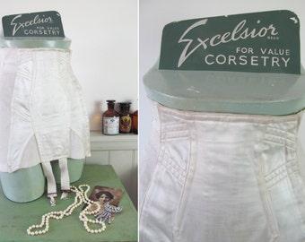 Superb vintage shop display corset mannequin~Excelsior~Complete with original Excelsior corset! Historic advertising~Vintage lingerie