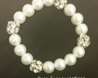Faux Pearls and Rhinestones