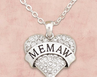 Memaw Heart Necklace - 54072