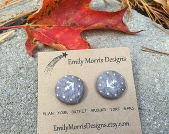 Anchor Button Earrings!