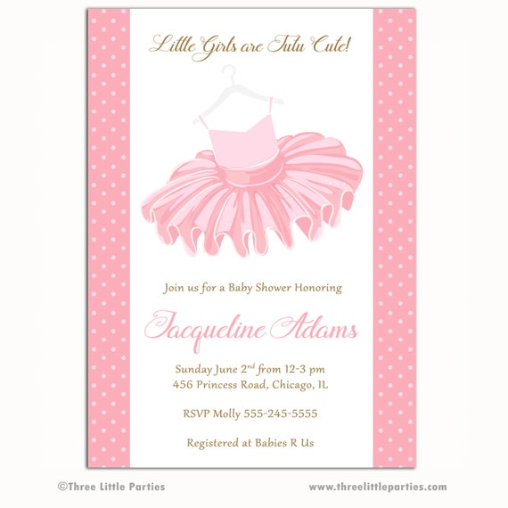 tutu baby shower invitation ballerina baby shower invitation girl