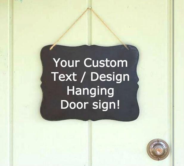 Create your own hanging door sign hanging doorbell sign for Create your own door