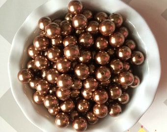 20mm Brown Chunky Beads Pearls (A45)