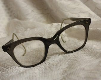 Vintage Bausch and Lomb Safety Glasses  - vintage safety eyewear - wire temples