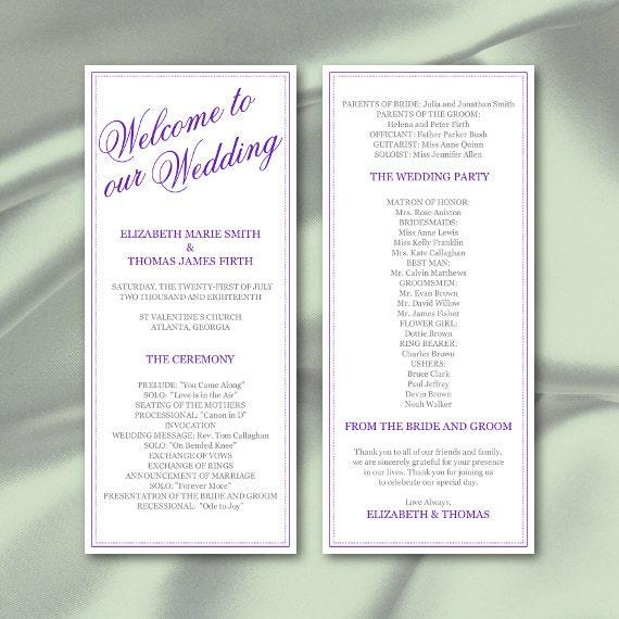 wedding menu card tea length calligraphy style with custom monogram ...