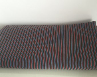 Brown Blue and Pink Stripe Knit Fabric / 193cm x 186cm