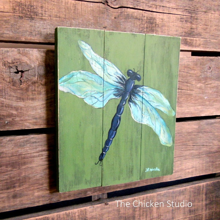 Dragonfly art mother 39 s day gift garden art porch decor for Dragonfly mural