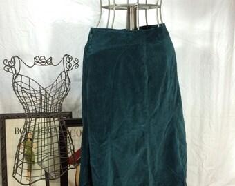 Vintage Jade Velvet Skirt