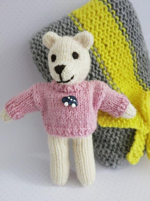 Soft Toys With Pockets : Items similar to pocket teddy bear oluś toy