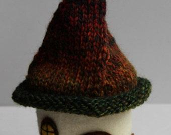 cream fairy house, gnome home
