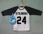 Stiles Stilinski Shirt Baseball Raglan Shirt Tee TShirt Unisex - Size S M L XL