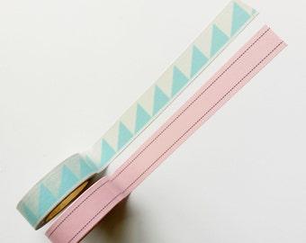 Washi tape pink & blue (set of 2 rolls from Hema)