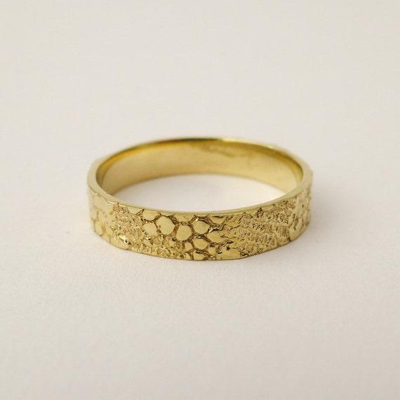 14 Karat Bands: Men's Gold Wedding Band 14 Karat Solid Gold Wedding Ring