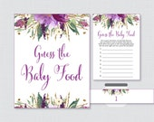 Purple Baby Shower Game G...