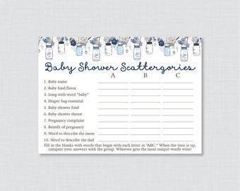rustic mason jar baby shower game baby scattergories abc game 0064