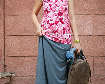 Long jersey skirt Maxi skirt Floor length skirt