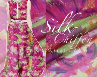Fuchsia Chiffon Silk Fabric - Seide Stoff Kaufen
