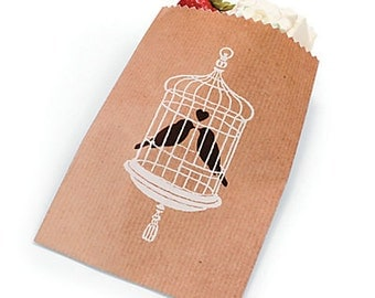 Love Birds Cake Bags /treat bags/ favor bags