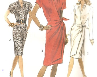 REDUCED PRICE!  VINTAGE Vogue Sewing Pattern 7780 - Women's Clothes - Misses Dress, Size 10-12