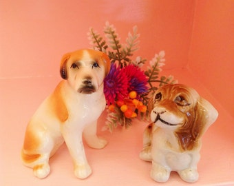 Super cute set of two dog figurines